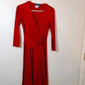Donna Morgan faux wrap dress size 4